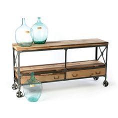 Loft Living Wood And Metal 3 Tier Rolling Cart