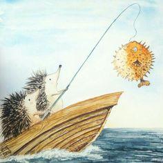 Hey ~ I caught a fish! ♡