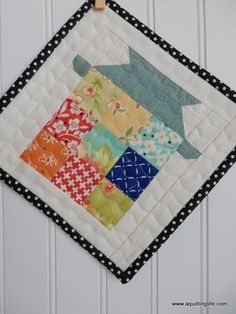 A Quilting Life - a quilt blog: Farm Girl Milking Can Quilt Block