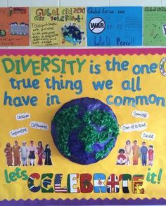 Diversity-Klassenzimmeranzeige - Boston Life Magazine - When Class Displays, School Displays, Library Displays, Classroom Displays, Classroom Themes, Classroom Resources, Classroom Display Boards, School Themes, Diversity Bulletin Board