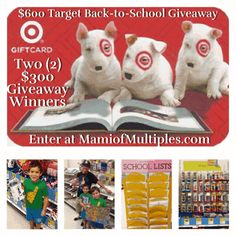 Give Back to Students in Need while Shopping for Back-to-School Supplies with Target and $600 Gift Cards Giveaway