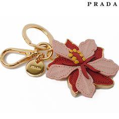 Prada PRADA Keyring / Keychain 1ARH82 SAFFIANO FLOWER ORCHIDEA / pink