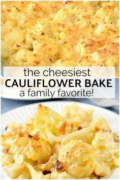 Keto Cauliflower Mac and Cheese- Easy Instant Pot Recipe Too! The cheese sauce in this baked cauliflower will send you over the edge! Perfect family side dish or even meal. Cauliflower Mac and Cheese- SIDE DISH, LUNCH, WHOLE FAMILY Low Carb Recipes, Diet Recipes, Vegetarian Recipes, Cooking Recipes, Healthy Recipes, Supper Recipes, Seafood Recipes, Mac And Cheese Rezept, Cauliflowers