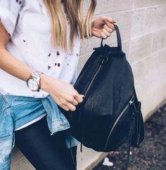 Rebecca Minkoff Julian backpack black #bag #travel #vouge