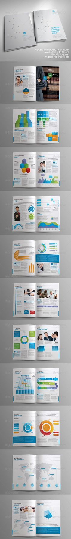 Annual Report Template II on Behance Graphic design Pinterest - annual report template