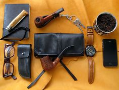 Leather Pipe Stand / Key Fob Adjustable by SorringowlandSons