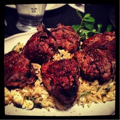 Amanda Walters' Dad's Famous Roasted Lamb Chops with Lemon-Mint Orzo