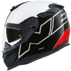 Nexx SX100 Orion Helmet - Black White Red