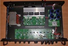 Assembled 500W Power Amplifier with 2SC2922, 2SA1216