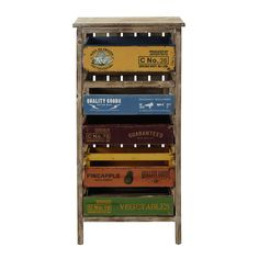 SERGIO wooden storage unit, multicoloured H 99cm