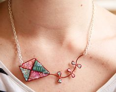 Lets Go Fly a Kite Beaded Necklace by LucyJewellery on Etsy