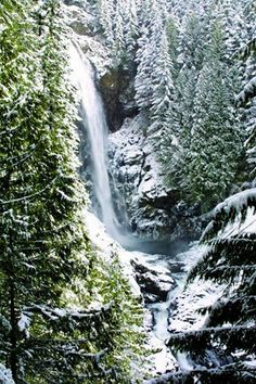 Wallace Falls State Park (WA) in winter