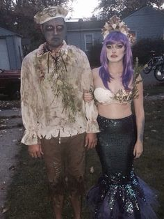 Post with 0 votes and 74 views. Our Siren and sailor costume Cute Couple Halloween Costumes, Halloween News, Halloween 2018, Halloween Makeup, Halloween Party, Scary Couples Costumes, Cool Costumes, Amazing Costumes, Scary Mermaid