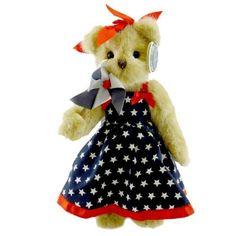 Bearington PENNY PINWHEEL Patriotic Plush Teddy Bear from Story Book Kids. (Item: 14408-161992)