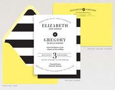 Wedding Invitation, Modern Typographic Wedding Invitation, Wedding Invite, Deposit