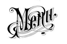 Vintage Typography - Menu Headings - Wedding - The Graphics Fairy