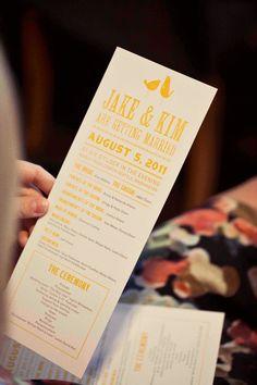 Wedding Ceremony Program Sample by sarahrusin on Etsy, $2.00