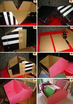 Organizér z krabice od topánok kreativita.info DIY nápad s návodom 2