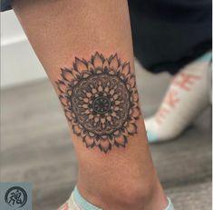 Sun flower mandala fine line illustration on ankle Hon Tattoo Tattoo Shops Toronto, Tattoo Flash Art, Fine Line Tattoos, Line Illustration, Tattoos Gallery, Flower Mandala, First Tattoo, Tattoo Studio, Ankle