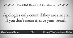 Gentlemens Rules #461