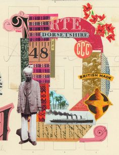 detail of collage by Martin O'Neill for book cover