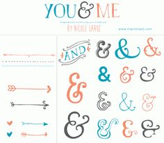 CLIP ART - You & Me - for commercial and personal use