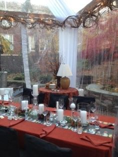 Thanksgiving dinner for 15? Rent a tent and create a custom dining room!