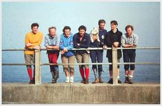 RAF MRT team leaders training course 1976 at the completion of their trans Highlands walk. L-R. Pete McGowan, John Hinde, Mick Banns, Jim Craig, John Standing, Tom Taylor & Eric Hendry. Photo-Alister Haveron collection.