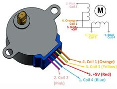 Stepper Motor Pinout Wiring, Specifications, Uses Guide & Datasheet - my cnc Stepper Motor Pinout Wiring Diagram - Electronic Circuit Projects, Electrical Projects, Electronic Engineering, Electrical Engineering, Electronics Components, Electronics Projects, Electronics Gadgets, Schrittmotor Arduino, Arduino Circuit