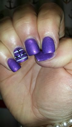 Purple anchor nails