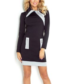 Loving this Black & White Contrast-Accent Bodycon Dress on #zulily! #zulilyfinds
