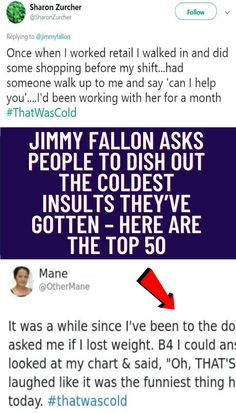 #Jimmy #Fallon #asks #people #dish #out #coldest #insults #gotten #top #50