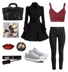 """""""winter spice"""" by xsaphronx on Polyvore featuring Converse, H&M and Topshop"""