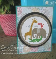 Stampin' Up!, Zoo Babies, Delightful Dijon, Tip Top Taupe, Cucumber Crush, Watermelon Wonder, Cherry on Top Designer Series Paper Stack.