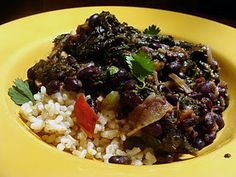 Smokey Black Beans and Kale #vegan
