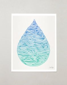 Goutte d'eau par CatCoq sur Etsy