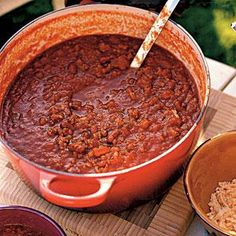 Gluten- free and meat-free, this hearty chili is full of corn, beans, onion, and bell pepper and is ready in about 25 minutes. The recipe does call for Worcestershire sauce, so be sure to use a brand that does not contain gluten.