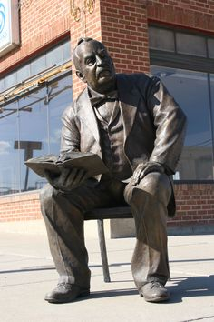 President Grover Cleveland statue in Rapid City, SD - sculpted by James Michael Maher; He was the only president to serve two non-consecutive terms. Historians consider Cleveland to have been one of America's better presidents. He was known for acting upon his own conscience despite opposition within his party.