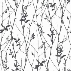 Scandinavian design wallpaper Spring Tree from collection Black&White by Borastapeter and Eco Wallpaper