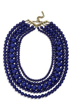 Loving the Southwestern vibes of this BaubleBar beaded statement necklace.