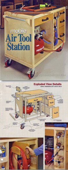 Mobile Air Tool Station - Workshop Solutions Plans, Tips and Tricks   WoodArchivist.com