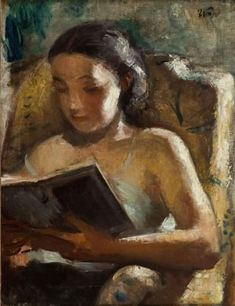 Wojciech Weiss (Polish, Oil on canvas. Weiss was searching for a formula portrait, which would allow the viewer to come into direct contact with the model, by placing. Reading Art, Woman Reading, Reading Books, Illustrations, Illustration Art, Books To Read For Women, Book People, Female Art, Painting & Drawing