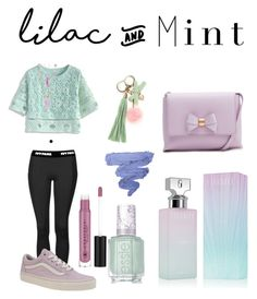 """Lilac mint"" by potter28 on Polyvore featuring Topshop, Chicwish, Vans, Lord & Taylor, Calvin Klein, Essie, Ted Baker and Anastasia Beverly Hills"