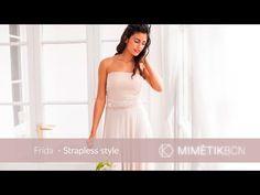 558cecfac6 Frida convertible sleeves dress to Strapless dress wedding style 03 mimetik  - YouTube Vestidos Hechos A