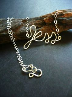 Contemporary, Elegant Personalized Necklace Made of Sterling Silver by Epheriell | Hatch.co