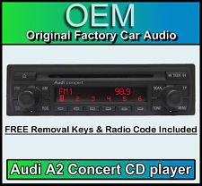 Audi a2 clarion car stereo radio upgrade kit cd mp3 aux fm ipod audi a2 cd player audi concert car stereo head unit supplied with radio code fandeluxe Choice Image