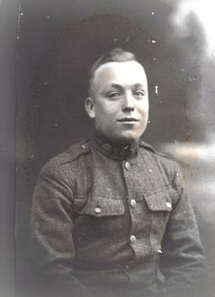 Grandpa Don Johnson, my father's dad. Army picture taken during WWI.