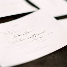 Traditional Wedding Invitations   photography by http://marinakoslowphotography.com