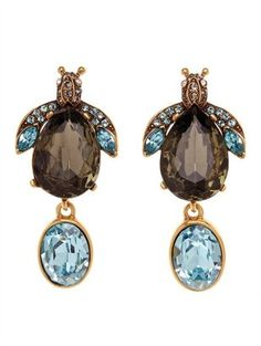 Oscar de la Renta - Bejeweled Bug Crystal Earring