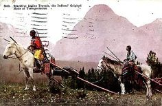 Blackfoot-Indian-Travois-Indians-transportation-1920s-postcard